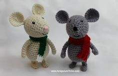 Amigurumi To Go: Winter Mouse - free crochet pattern.