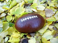 Football painted on the rock  unique gift by WerockforKasity, $100.00