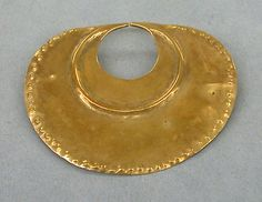 Hammered Gold Nose Ornament   Colombia   The Met