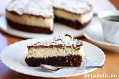 Chocolate and coconut cake ❤ Norwegian Food, Norwegian Recipes, Eat Dessert First, Food Cakes, Let Them Eat Cake, Tiramisu, Cake Recipes, Sweet Treats, Cheesecake