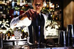 Barman Mixing Something @ 3 South Place Hotel, Moorgate - Exploiting the photogenic bar