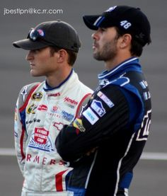 Kasey Kahne and Jimmie Johnson #NASCAR