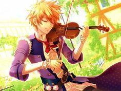 Anime playing violin