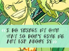 Roronoa Zoro Quotes. QuotesGram