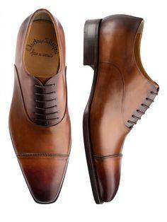 87158fdef2016 Santoni 7460 Straight Tip Balmoral Handmade Oxford Gents Shoes