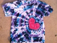 My friend Erin makes these cool tie dye shirts