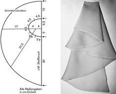 Skirt Patterns Sewing, Sewing Patterns Free, Clothing Patterns, Sewing Tutorials, Fashion Sewing, Diy Fashion, Couture Sewing, Pattern Drafting, Fabric Manipulation