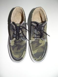 Aeropostale Men's Army Green Boot Canvas Camo Shoes Size 9  #Aeropostale #Boots