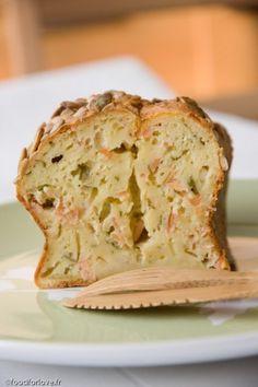 Cake au Saumon Fumé, Estragon et Fromage Frais - Food for Love