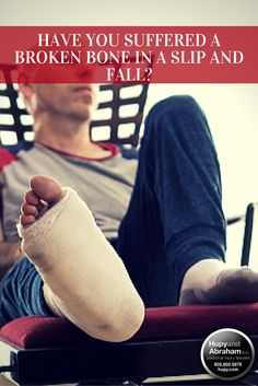 #LegalTips - Breaking a bone during a slip and fall accident is one of the serious but common injuries that victims suffer. Sustaining a broken bone, or fracture, is generally more complicated than it sounds, and a fair recovery often requires the help of an experienced personal injury lawyer. Learn more, including what to do if a serious slip or fall accident caused a broken bone, here!