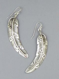 Silver Feather Earrings By Lambert Perry Southwest Gallery
