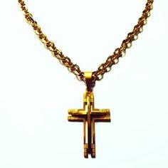 9a744e25cfd 22 melhores imagens de Corrente masculina prata com crucifixo ...
