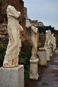The vestal virgins lived in the House of the Vestal Virgins on the Forum Romanum, near the Temple of Vesta. The order of the vestals was disbanded in 394 AD, when non-Christian cults were banned.