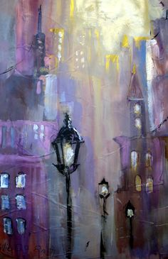 Acrylic ,Cityscape by Millie Gift Smith