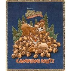 Disney Throw Blanket - Fort Wilderness Chip and Dale .. I REALLY WANT THIS!!!!!