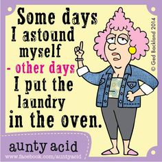 Laundry in oven