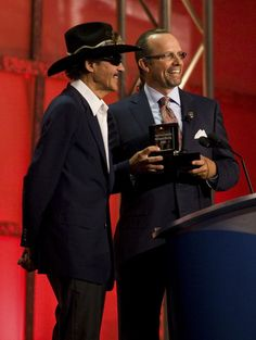 Kyle Petty and Richard Petty Photo - NASCAR Hall of Fame Induction