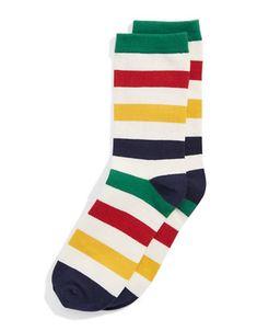 Brands | Socks  | Mens Socks | Hudson's Bay Mens Striped Socks, Hudson Bay, Dress Socks, Lord & Taylor, Indigo, Stripes, Colours, Yellow, Clothes
