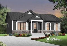 Discover the plan 3137 - Miranda from the Drummond House Plans house collection. Economical Modern Rustic Starter home design with open floor plan concept. Total living area of 864 sqft.