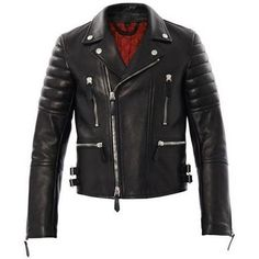 Burberry Brit Edgewick Leather Biker Jacket as seen on Miranda Kerr
