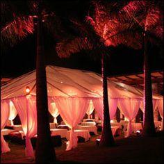 Reception, Wedding, Beach, Hawaiian, Sunset hawaii weddings, Tents, Caterers