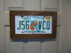Cute idea for the man cave, never know what else to do with old license plates anyways. License plate slides right into the slot on the top