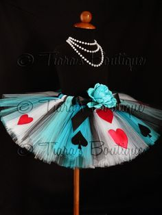 "Dress Season as the ""Queen of Hearts"" from Alice in Wonderland for her birthday party, super cute costume!!!"