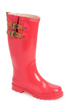 Rainy days are more fun with coral rain boots.
