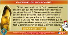 MISIONEROS DE LA PALABRA DIVINA: REFLEXIÓN - ACORDÉMONOS DEL AMOR DE CRISTO
