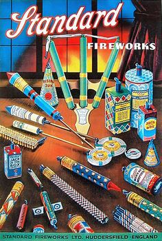 If It's Hip, It's Here (Archives): 30 of the Hippest Vintage Fireworks Posters, Packaging and Labels for The Fourth of July. Vintage Fireworks, Fireworks Art, Fireworks Pictures, Vintage Advertisements, Vintage Ads, Vintage Posters, Vintage Images, The 5th Of November, Fourth Of July