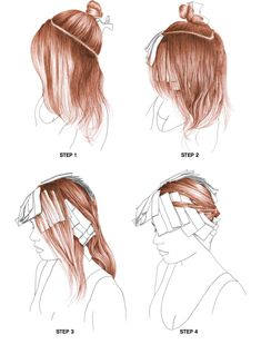 Two Color Hair, Hair Color Streaks, Hair Highlights, Hair Color Techniques, Colouring Techniques, Pelo Popular, Hair Color Placement, Brown Bob Hair, Hair Foils