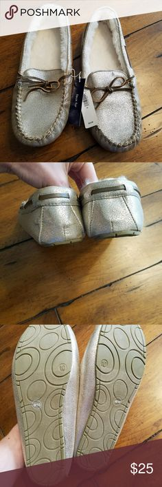 Silver GAP Moccasins New Silver Moccasins by Gap. Size 10. Original retail cost 24.99. No flaws. GAP Shoes Moccasins
