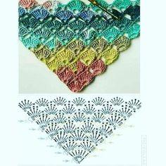 Crochet Stitches, Crochet Patterns, Shawl, Blanket, Instagram, How To Make, Internet, Easy Crochet Shawl, Tejidos