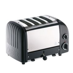 Dualit Four Slice New Gen Toaster, Matte Black