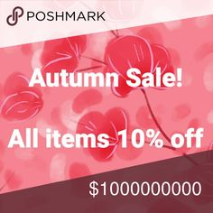 Autumn 10% Off Sale I love the fall... And it's time to switch up the items on my closet. So until December every item is 10% off.  I'm leaving their original prices, you're welcome to make me offers greater than the ten percent discount, but I will always stop my counter offers at 10% if I don't accept a lower price.  Have fun! And happy Fall 🍁 Jeans