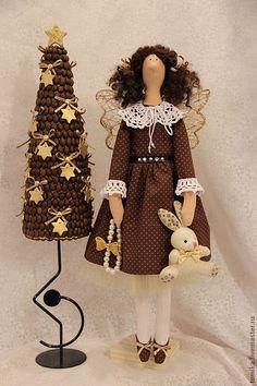Купить Фиора - бежевый, интерьерная кукла, интересный подарок, интерьерная композиция, кукла ручной работы