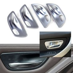 4pcs New ABS plastic Interior Door Handle Cup Bowl Cover Trim fit for BMW 5 Series F10 F18 Sedan 2011 2012 2013 2014 2015 2016 #Affiliate
