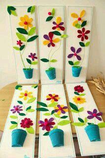 Frühling warten Dekoration (mit Vorlagen) – basteln Spring wait for decoration (with templates) – crafts – Kids Crafts, Summer Crafts, Preschool Crafts, Projects For Kids, Art Projects, Diy And Crafts, Arts And Crafts, Paper Crafts, Diy Paper