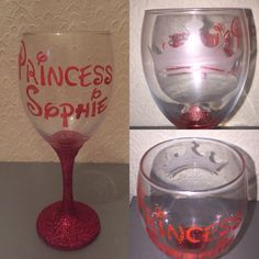 Had made glitter glass for the Disney princess in all of us