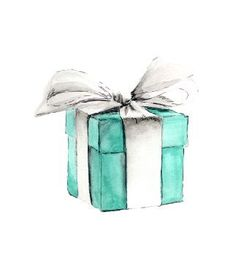 breakfast at tiffany's set of three notecards by lullula on Etsy, $10.00