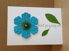 Another sweet & simple flower notecard by Kendra Heidt, Stampin' Up! Demonstrator