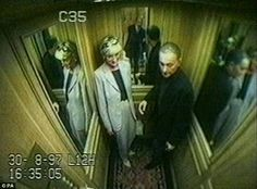Princess Diana and Dodi al Fayed at the Ritz Hotel before they both died.