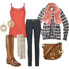 coral and stripes!
