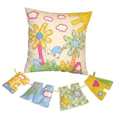 Kids Pillow & Wall Hanging LettersSet   by DreamsGuardian on Etsy, $80.00