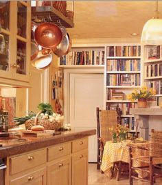 Kitchen library...LOVE!!! brings tears to my eyes