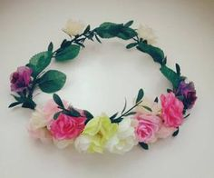 """Find and save images from the """"Flowers Crown ✿"""" collection by Accessories Maria (HMWithStyle) on We Heart It, your everyday app to get lost in what you love. Save Image, Handmade Accessories, Crown, Wreaths, Facebook, Bridal, Flowers, Wedding, Jewelry"""