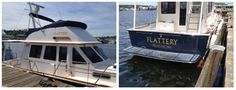 Flybridge and transom name for a Saber 42