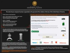 Department of Justice Virus is a highly dangerous ransomware that is designed to lock the computer deliberately and trick users into paying a fine to make money.