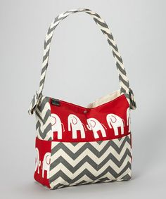 Take a look at this Red Elephant Diaper Bag by Brownie Gifts on #zulily today!