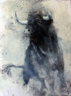 "Saatchi Art Artist Nicola Pucci; Drawing, ""Bull 3"" #art"